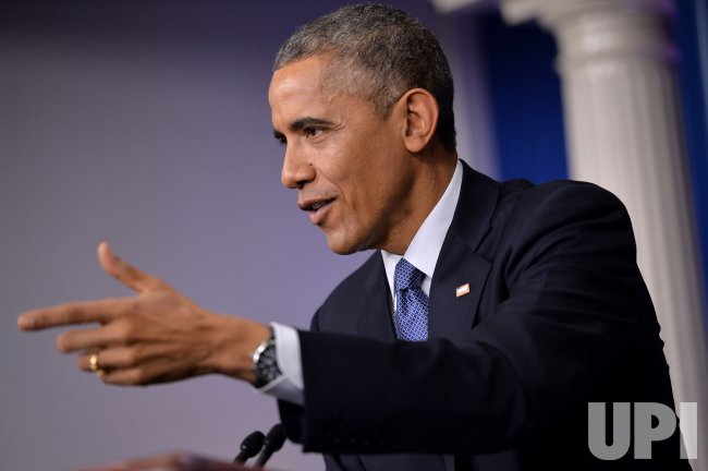 President Obama holds a press conference in Washington, D.C.
