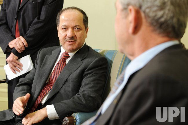 U.S. President Bush meets Kurdish President Barzani in Washington