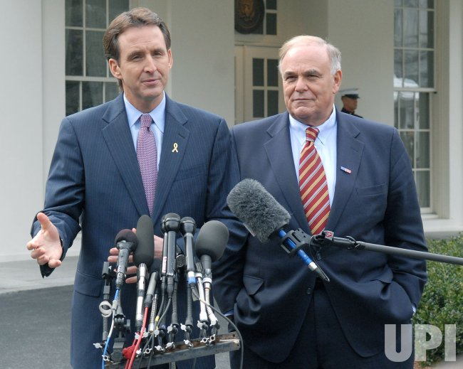 Gov. Rendell and Gov. Pawlenty speak at the White House in Washington