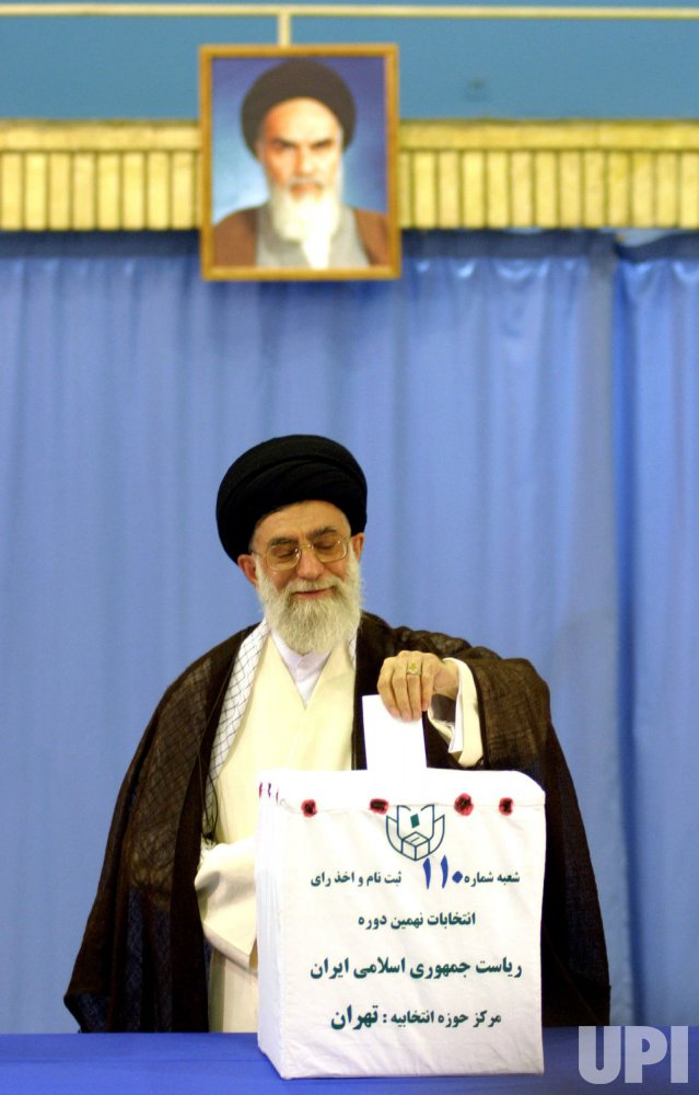 IRANIANS HOLD PRESIDENTIAL ELECTION