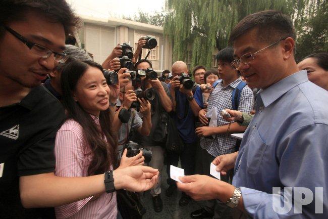 U.S. Ambassador Locke speaks to media in Beijing