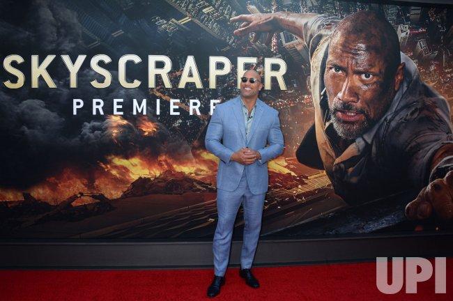 Dwayne Johnson at the 'Skyscraper' New York premiere