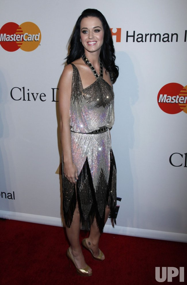 Katy Perry arrives at the Clive Davis Pre-Grammy Gala in Beverly Hills