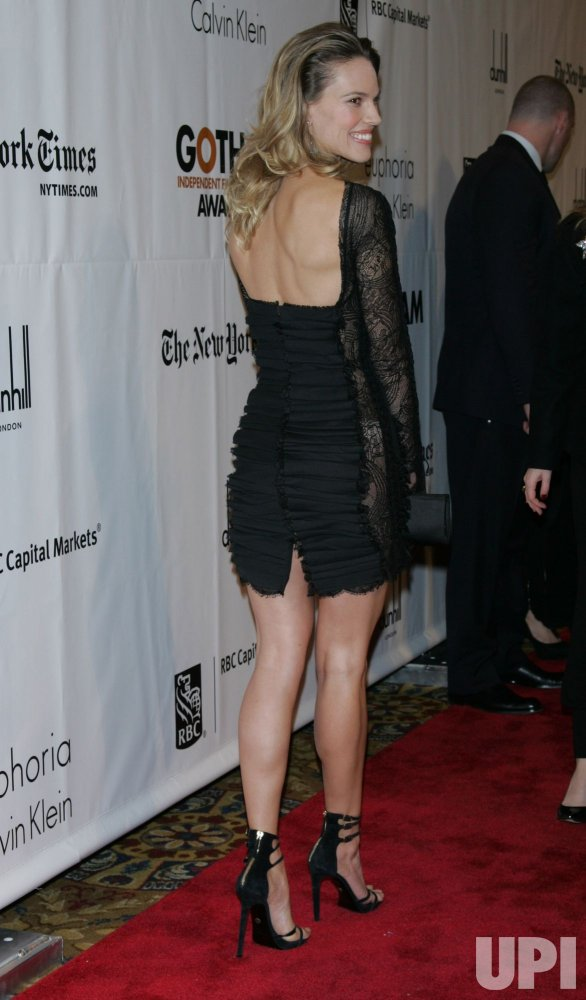 Hilary Swank arrives for the 20th Anniversary of the Gotham Independent Film Awards in New York