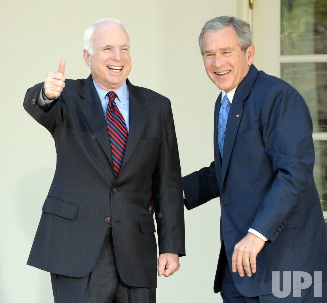 Bush endorses McCain for president at White House