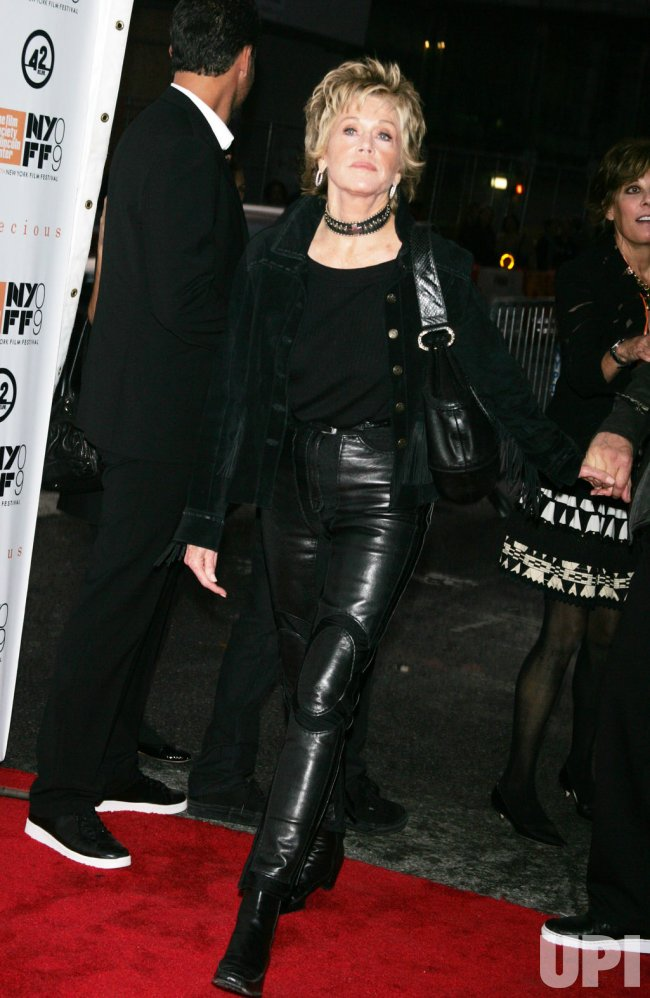 "Jane Fonda arrives at the New York Film Festival premiere of ""Precious"" in New York"