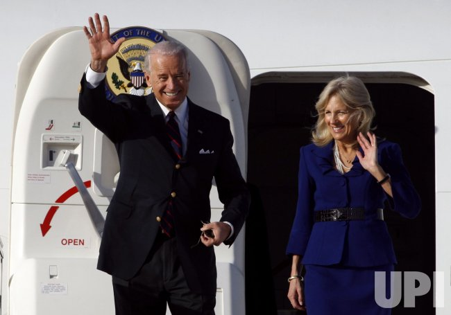 U.S. Vice President Joe Biden arrives in Tel Aviv