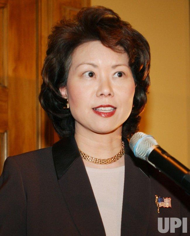 SECRETARY OF LABOR ELAINE CHAO AT THE MPAA