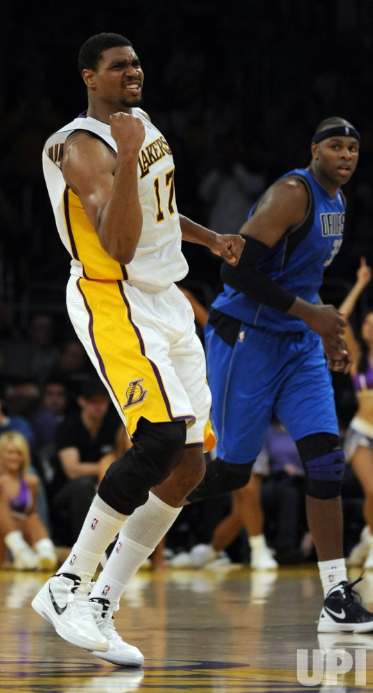 Los Angeles Lakers play Dallas Mavericks in Los Angeles