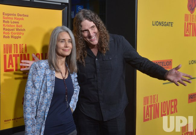 weird al yankovic and suzanne krajewski attend the how to be a latin