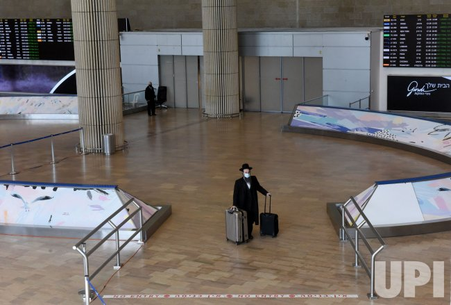 An Ultra-Orthodox Man Arrives In Ben Gurion Airport