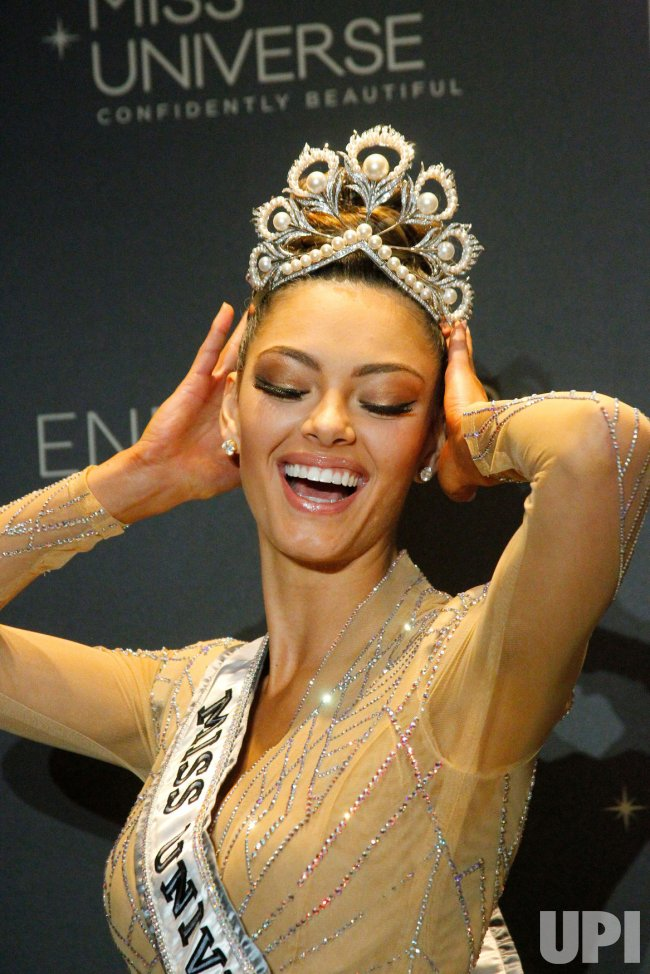 Demi-Leigh Nel-Peters of South Africa is crowned Miss