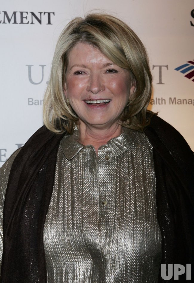 Martha Stewart arrives at the Winter Antiques Show in New York
