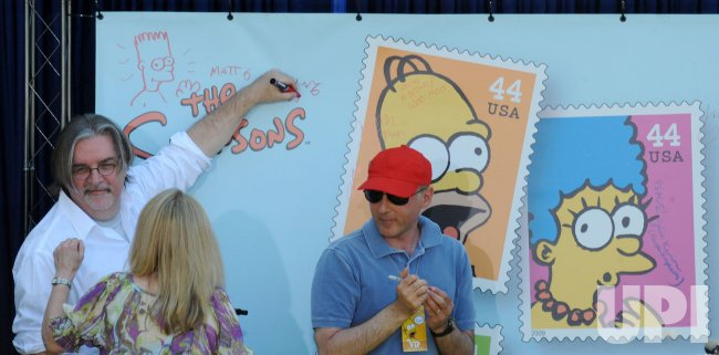 """The Simpsons"" U.S. postage stamp unveiled in Los Angeles"