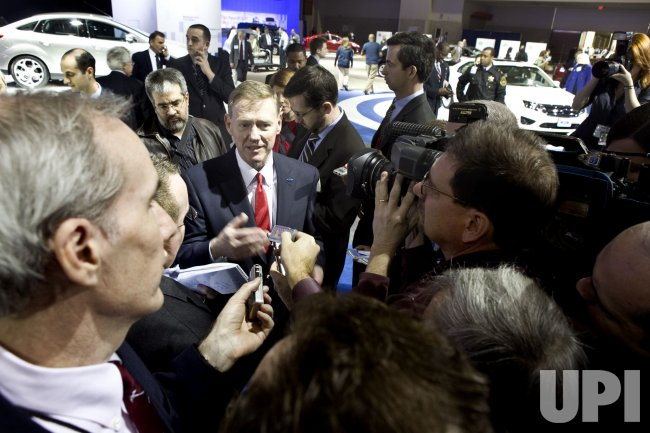 Alan Mulally speaks at Washington Auto Show