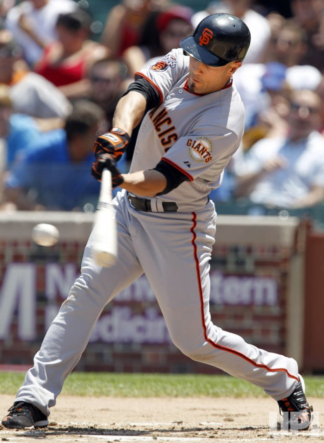 San Francisco Giants Torres Lines Out To Cubs First Baseman Pena