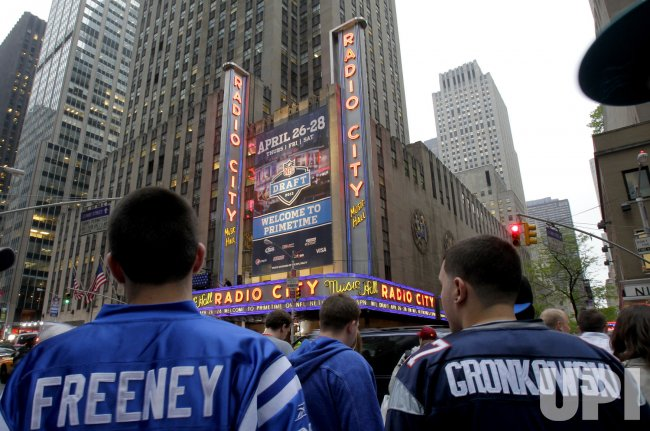 Atmosphere at the 2012 NFL Draft at Radio City Music Hall in New York