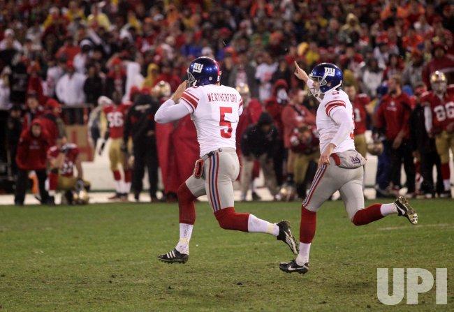 NFC Championship San Francisco 49ers vs New York Giants in San Francisco
