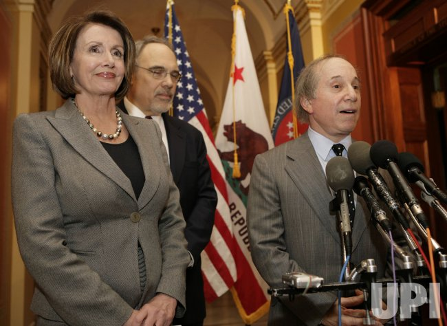 House Speaker Pelosi meets with singer Paul Simon on Capitol Hill