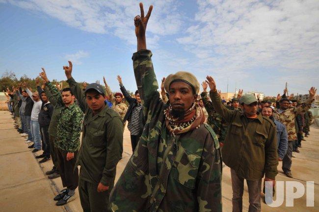 Rebel Recruits Training in Benghazi Libya