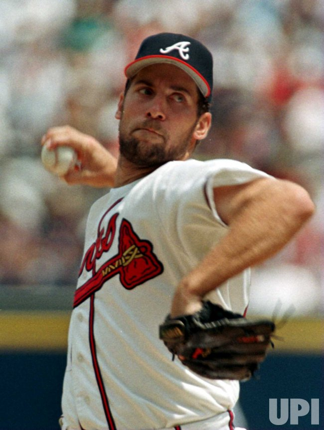 Braves pitcher John Smoltz in action
