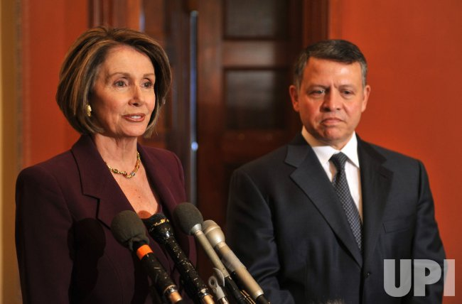 Speaker Pelosi meets with King Abdullah of Jordan in Washington