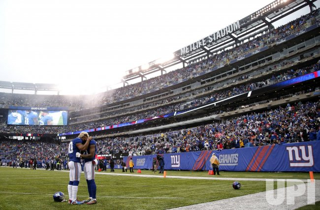 New York Giants Odell Beckham Jr. and Victor Cruz