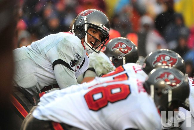 Buccaneers quarterback Josh Freeman in Maryland