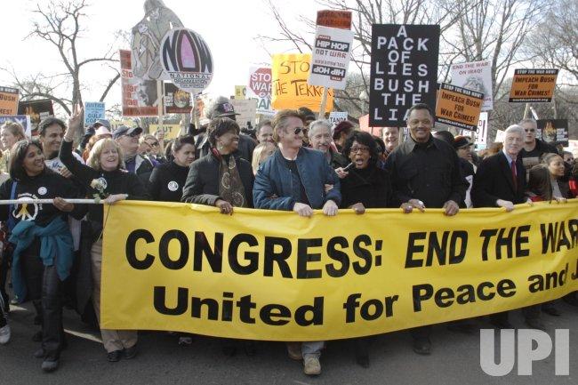 PROTEST AGAINST IRAQ WAR IN WASHINGTON
