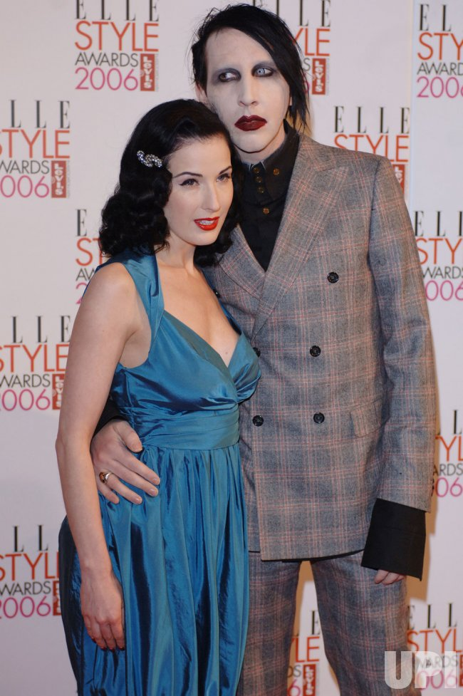 "ARTIST DITA VON TEESE AND SINGER MARILYN MANSON AT ""ELLE STYLE AWARDS"""