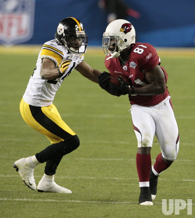 Super Bowl XLIII Arizona Cardinals vs. Pittsburgh Steelers in Tampa, Florida.