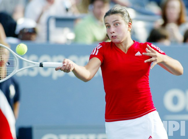 Sevastova competes in second round at the US Open tennis in New York