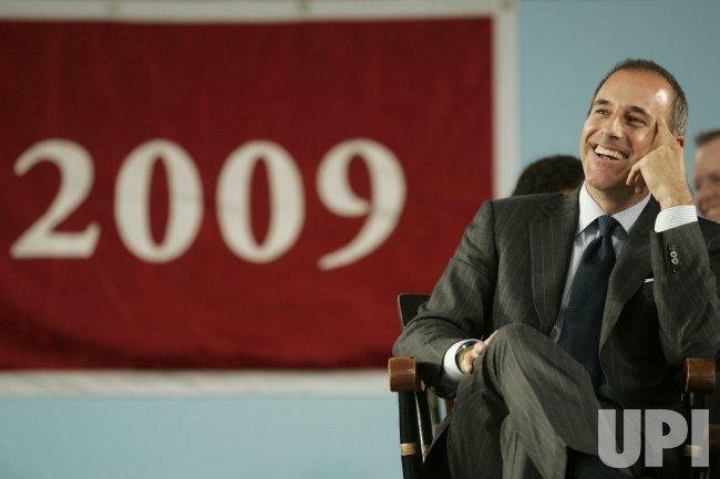 Matt Lauer speaks at2009 Harvard College Class Day