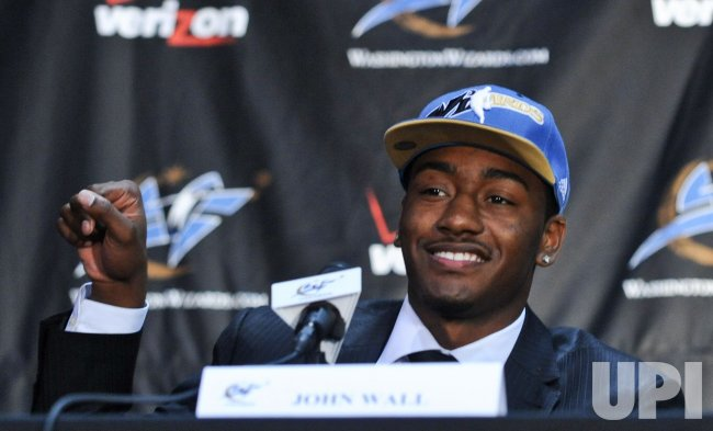 Washington Wizards #1 draft pick John Wall arrives in Washington