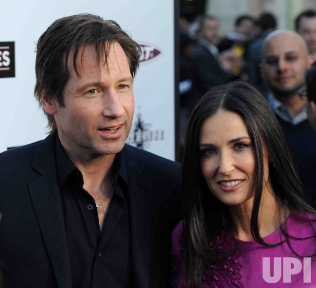 "David Duchovny and Demi Moore attend ""The Joneses"" premiere in Los Angeles"