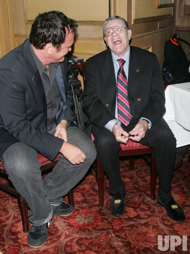 Quentin Tarantino and Jerry Lewis attend Friar's Club honoring Jerry Lewis in New York