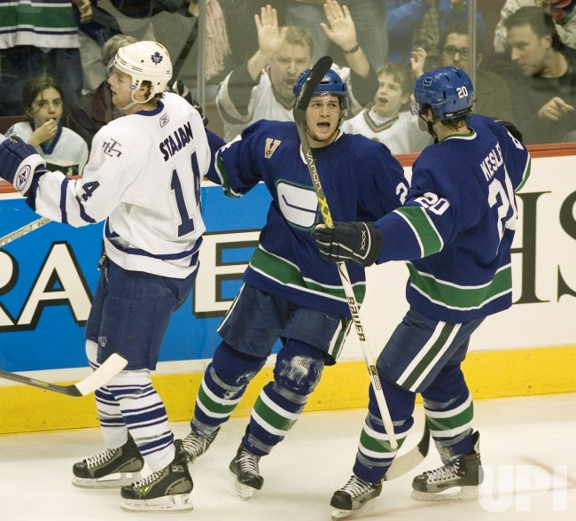 TORONTO MAPLE LEAFS VISIT VANCOUVER CANUCKS