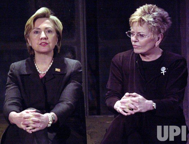 Senator Clinton discusses Off Broadway play Necessary Targets