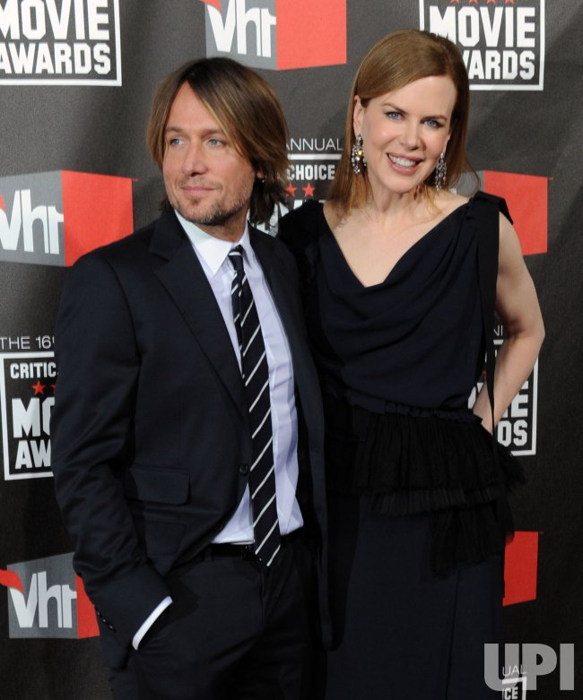 Nicole Kidman and Keith Urban arrive at the 16th annual Critics' Choice Awards in Los Angeles