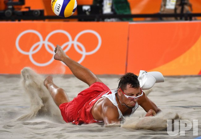 Men's Beach Volleyball Poland vs  Germany at the Rio Summer Olympics