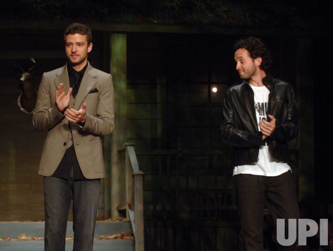 Designer Justin Timberlake 2009 Spring outfits shown in New York