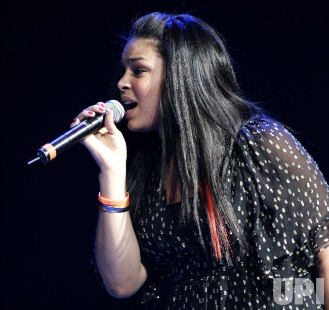 Jordin Sparks performs in concert in Miami