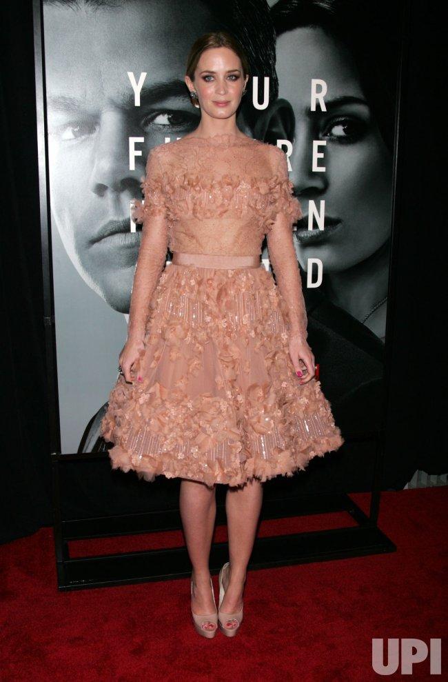 "Emily Blunt arrives for ""The Adjustment Bureau"" Premiere in New York"