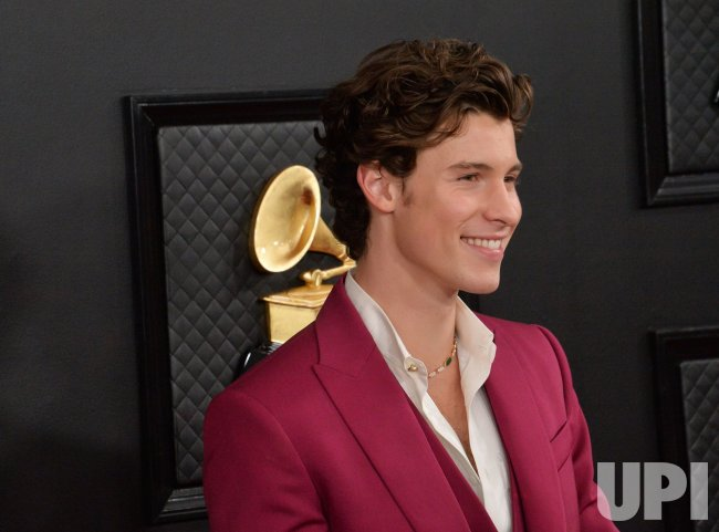 Shawn Mendes arrives for the 62nd annual Grammy Awards in Los Angeles