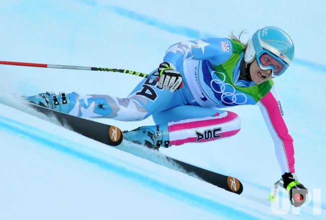 USA's Julia Mancuso competes in the Ladies' Super-G in Whistler