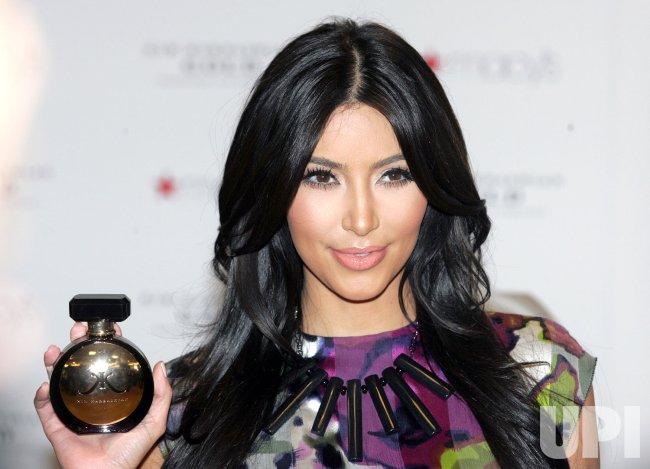 Kim Kardashian promotes her new fragrance in Miami