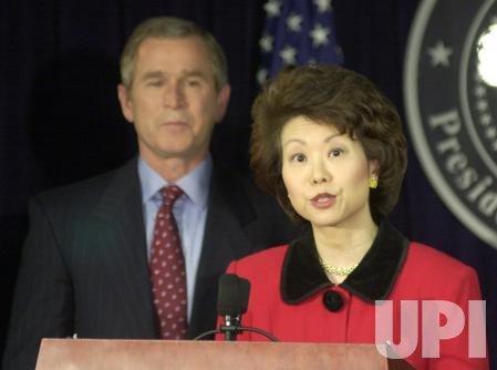 Elaine Chao to be Secretary of Labor