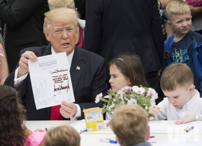 President Trump at the White House Easter Egg Roll in Washington, D.C.