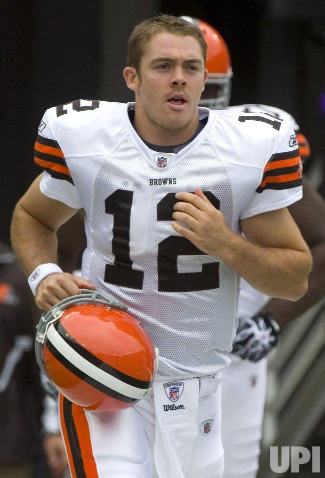 Browns' quarterback Colt McCoy in Baltimore