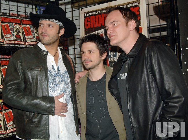 """DIRECTOR TARANTINO PROMOTES NEW FILM """"GRINDHOUSE"""" IN NEW YORK"""